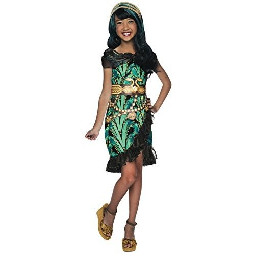610269_M Medium Rubies Monster High Fright Camera Action Cleo de Nile Costume, Child Medium