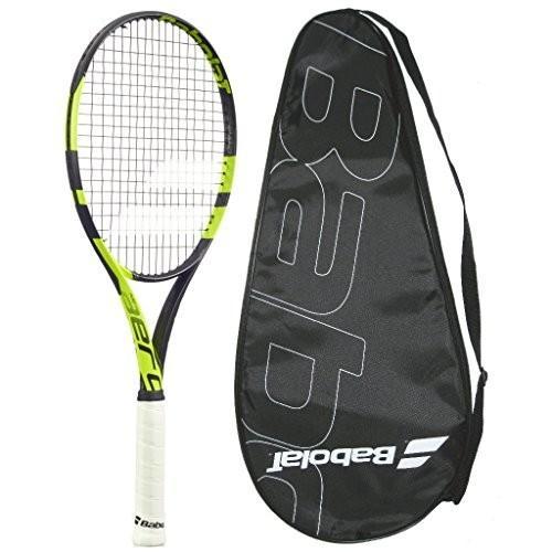 Babolat 2016-2018 Pure Aero Team Tennis Racquet - quality String (4-1/8)