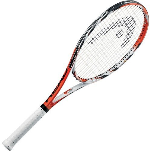 232310-4.375 4 3/8 Grip 98 Inch Head HEAD MicroGel Radical MP Tennis Racquet, Strung, 4 3/8 Inch Grip