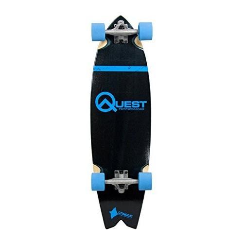 Quest QT-SSR35B 35 in. Manta-Ray Performance Cruiser Longboard Skateboard
