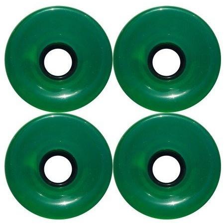 DECK 青glass Longboard Cruiser Skateboard High Rebound Wheels + ABEC-7 Speed Bearings (Clear 緑 70mm Wheels)