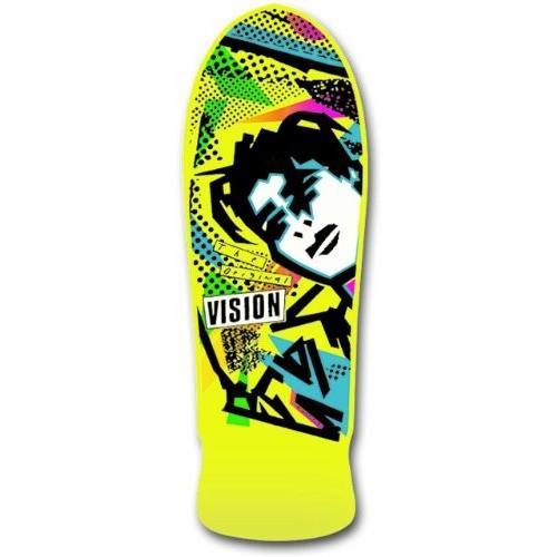 BD0V4-yellow 10 x 30-Inch Vision Original MG Reissue Skateboard Deck, Yellow, 10 x 30-Inch