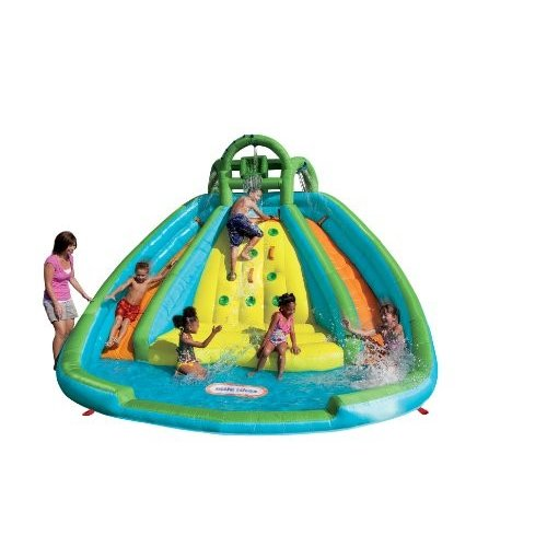 プールLittle Tikes Rocky Mountain River Race Inflatable Slide Bouncer