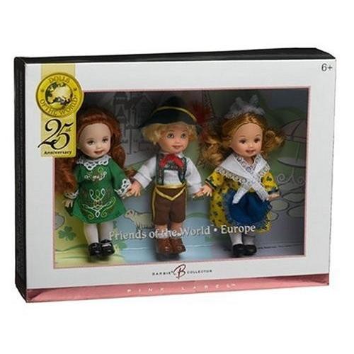 バービーBarbie Collector ピンク Label - Dolls of The World - Kelly and Friends Gift Set - France, Switzerland & Ireland