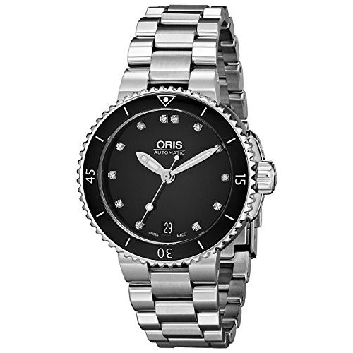 春夏新作 73376524194MB Oris Divers Women's 73376524194MB Divers Stainless Black Steel Stainless Black Dial Watch, 六合村:e153eb39 --- airmodconsu.dominiotemporario.com