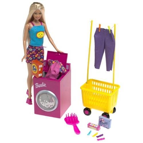 バービーBarbie Wash 'N Wear Doll w Color Change Outfits (2000)