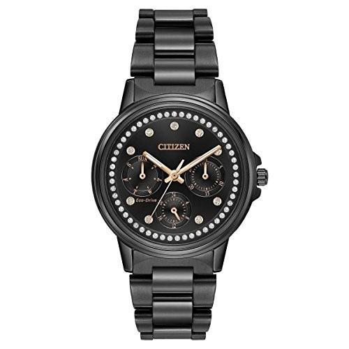 【メーカー包装済】 FD2047-58E Citizen Women's Silhouette Japanese-Quartz Watch with Stainless-Steel Strap, Black, 20 (Model: FD2047-58E), 昇永堂 50fb6fc4