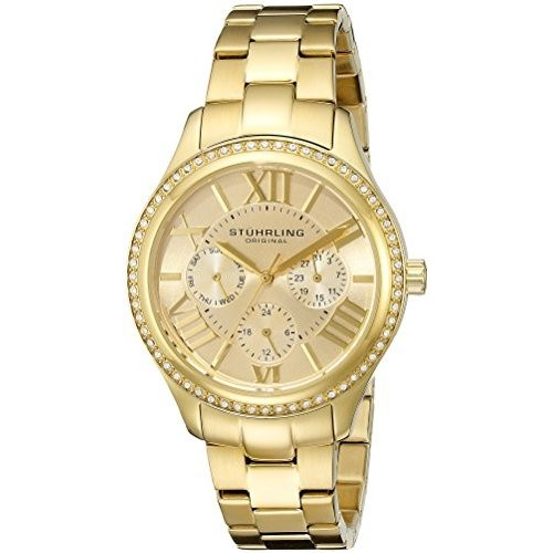 正規通販 391LS.02 Standard Tone Stuhrling Original Women's Regent 391LS.02 Regent Swarovski Lady Majestic Quartz Swarovski Gold Tone Watch, つるや質店:9190634a --- airmodconsu.dominiotemporario.com