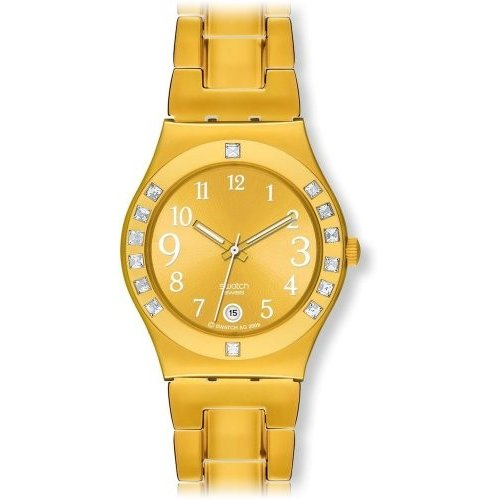 印象のデザイン YLG404G Swatch Women's YLG404G Fancy Me Gold Dial and Bracelet Watch, 輸入酒のかめや cc350b69