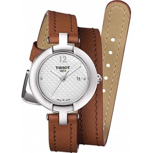 【保障できる】 T084.210.16.017.04 Tissot Trend Pinky Silver Dial Light Brown Leather Ladies Watch T0842101601704, 快眠博士 0aad6171