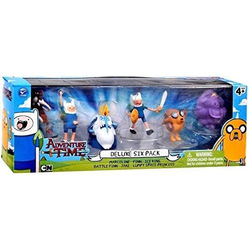 アドベンチャータイムAdventure Time2 Inch Mini Figure Deluxe 6-Pack Marceline, Finn, Ice King, Battle Finn, Jake & Lumpy