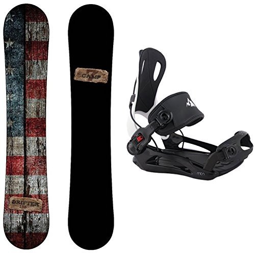 Large Bindings Camp Seven Package Drifter CRCX 2018 Snowboard-158 cm Wide-System MTN Binding Large