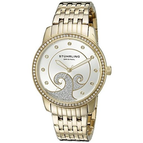 激安直営店 569.04 Standard Stuhrling Original Women's Analog 569.04 Coronet Women's Analog Standard Display Quartz Gold Watch, 稲敷郡:d479b448 --- airmodconsu.dominiotemporario.com