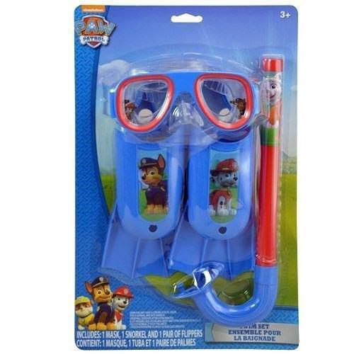 シュノーケリングPaw Patrol Nickelodeon Swim Goggles Mask Snorkel Flippers Set