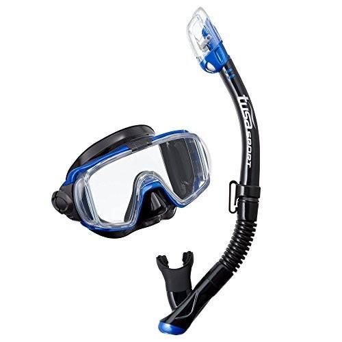 【高知インター店】 UC-3125QB-MB One Size TUSA Size Sport Adult Visio Tri-Ex Black Black Blue Series Mask and Dry Snorkel Combo, Black/Metallic Blue, 花園町:a73c272e --- airmodconsu.dominiotemporario.com