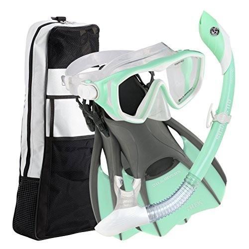 割引クーポン Small (Ladies 5-8) U.S. Divers Diva 1 Lx/Island Dry Lx/Trek/Travel Bag Mint Green Small; Now with New and Improved Snorkel Clip, ホームリペア リスム 278a090f