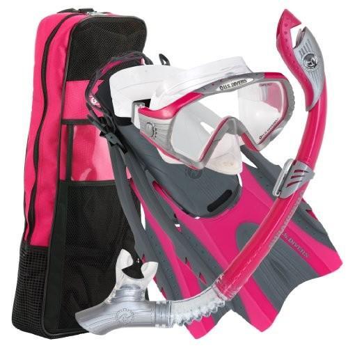 【時間指定不可】 279940 Medium Large / Large (Women 10-13) U.S. Divers Adult Starbuck II Purge LX Mask/Paradise Dry LX Snorkel/Hingeflex II Fins/Pr, 信州新町 4db22019