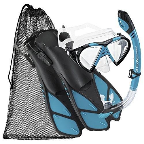 【お年玉セール特価】 Size 9 to 13, 13 Cressi with BNTMFSS AQ-LG Adjustable Mask Fin Fin Snorkel Set with Carry Bag, Size 9 to 13, Aqua, エアースポット:0b97d117 --- airmodconsu.dominiotemporario.com