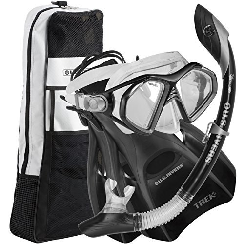 ビッグ割引 278685 Small (Men (4-7), Women (5.5-8.5)) U.S. Divers Admiral LX Travel Snorkel Set (Black). Adult Snorkel Mask, Snorkel, Fins, an, 設備プラザ c0ff5748
