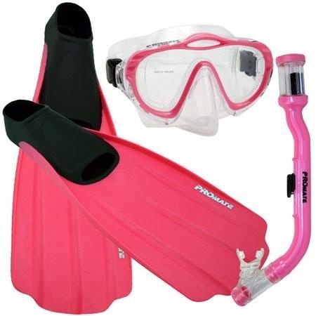 【数量は多】 Junior 3-5, Foot XS Promate Kids, Junior Snorkeling Scuba Dive Purge Set Mask Dry Snorkel Full Foot Fins Gear Set for Kids, Pink, XS (Shoe: 3-5), おてんと屋:aac0efba --- airmodconsu.dominiotemporario.com