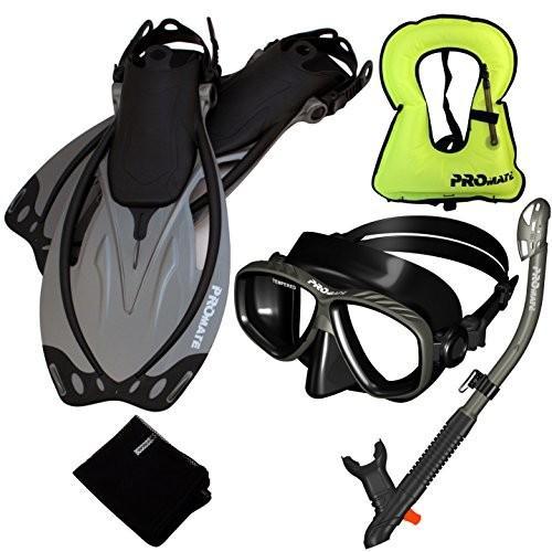 【返品?交換対象商品】 MLXL Fins+Large Vest MLXL Promate 759001-Ti/Bk-MLXL Snorkeling Fins+Large Vest Mask Vest Snorkel Fins Combo Set, 最上の品質な:cb6b907a --- airmodconsu.dominiotemporario.com