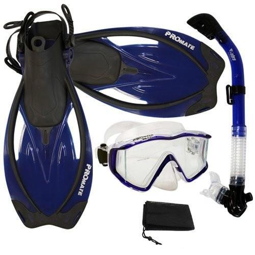 春夏新作 S 6-9/M (5-8 mens, 6-9 wmns) Promate wmns) Promate Snorkeling Panoramic Mask Dry Snorkel Scuba Dive Fins Set, Blue, S/M, 蕊取郡:4797c3e7 --- airmodconsu.dominiotemporario.com