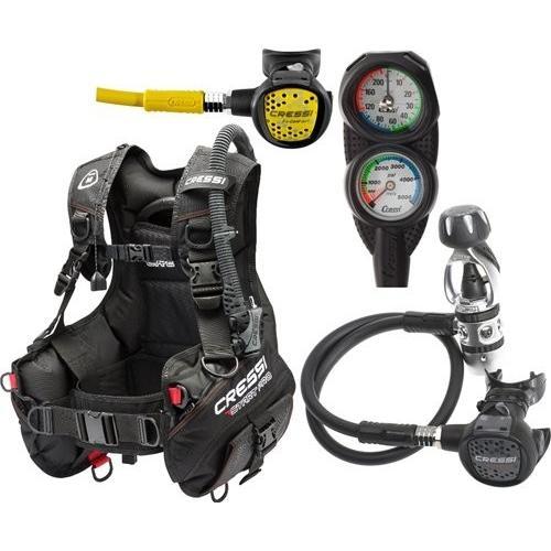 FBA_CRESTARTPKG-SM Small Cressi Sub Start Equipment for Scuba Diving, made in Italy