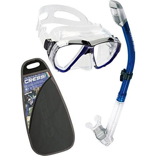 ファッション ZDS260062 One Cressi Big Eyes & Dry Combo, Clear/Cobalt, カミカワグン 78ace375