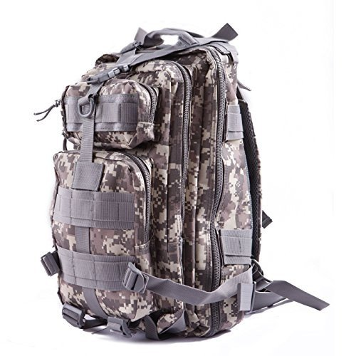 55L 3D Outdoor Molle Military Backpack Rucksack Trekking Bag Camping Army G C5