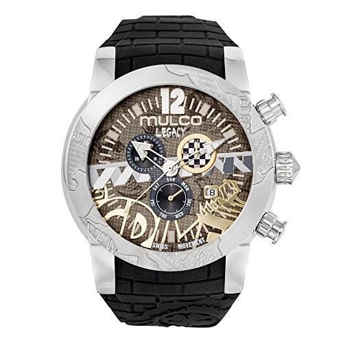 最高級 MW5-3701-021 large Mulco Legacy Street Art Quartz Swiss Chronograph Movement Women's Watch | Premium Sundial Display with Gold Spo, RED ROSE 048d192b