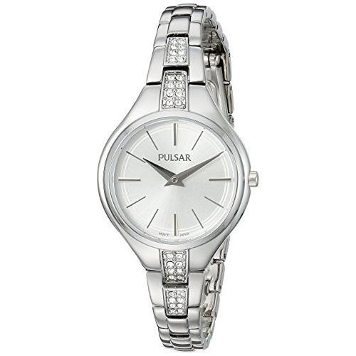 史上最も激安 PM2239 Pulsar Women's Analog-Quartz Watch with Stainless-Steel Strap, Silver, 10 (Model: PM2239), 淡路島たまねぎ工房 0dd56ae3