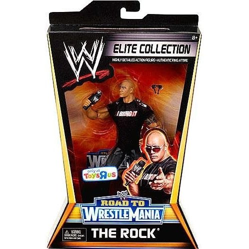 フロートMattel WWE Wrestling Exclusive Elite Collection Road to WrestleMania Action Figure The Rock