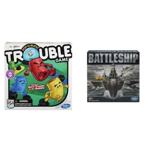 ボードゲームTrouble Game and Battleship Game Bundle