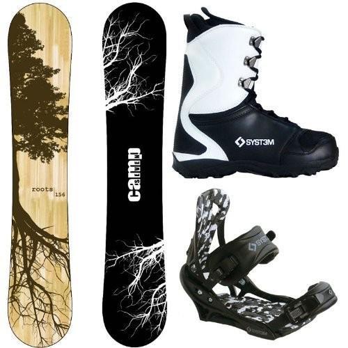 【おしゃれ】 Boot Size 13 Camp Seven Roots CRC and APX Complete Men's Snowboard Package (159 cm, Boot Size 13), ハンナンシ afd0dec0