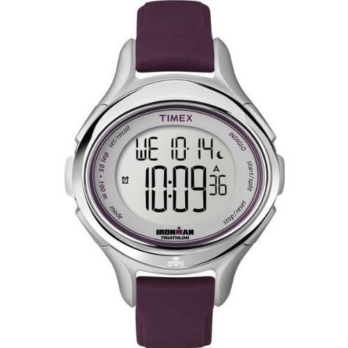 高価値 T5K498 Timex Women's T5K498 Ironman All Day 50-Lap Plum Silicone Strap Watch, 新地町 e54dbd74