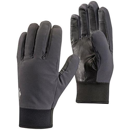 801041 Medium 黒 Diamond Men's Midweight Softshell Gloves Smoke M