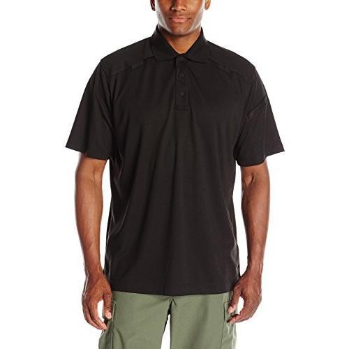 PO01 3X-Large 黒HAWK! Men's Short Sleeve Range Polo, 3X-Large, 黒
