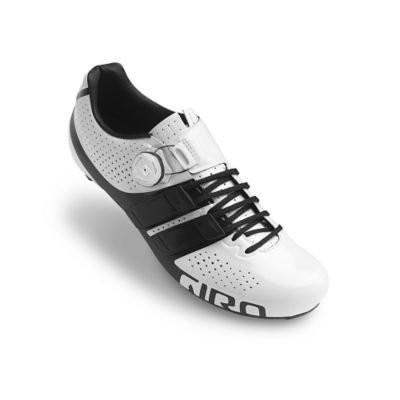 40.5 Giro Factor Techlace Road Cycling Shoes 白い/黒 40.5