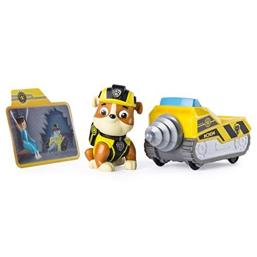 20083770-6037963 Paw Patrol Mission Paw - Rubble's Mini Miner - Figure and Vehicle