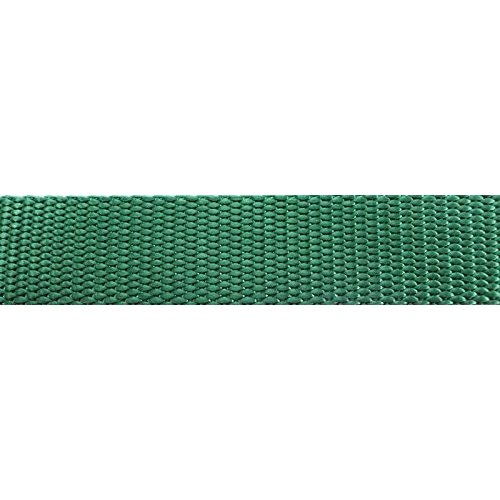 1 inch x 20 yards Tapecraft Northwest Contract Sewing 1 inch Heavy Nylon Webbing (I Green, 20 Yards)