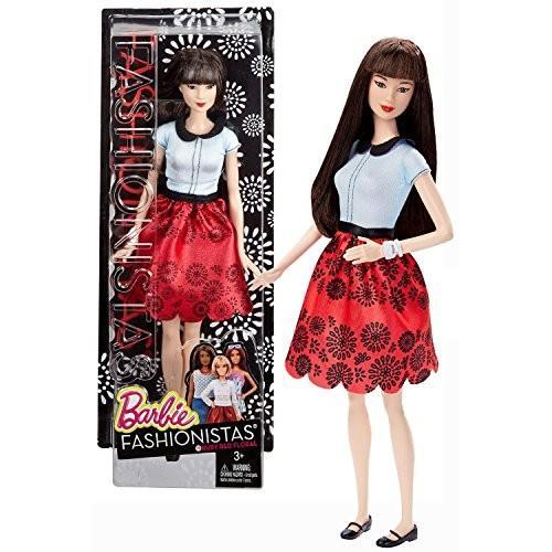 バービーMattel Year 2015 Barbie Fashionistas Series 12 Inch Doll - NEKO (DGY61) in Ruby 赤 Floral Skirt and Light 青 Tops w