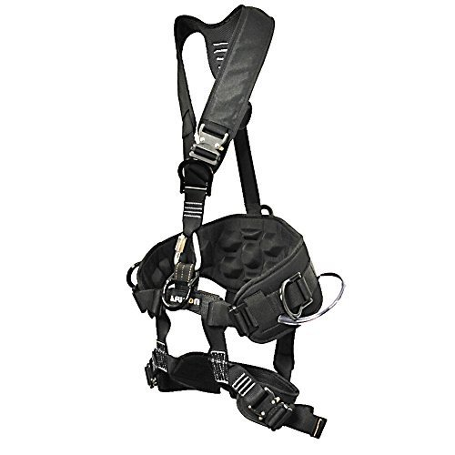 TCH-603-S Fusion Climb Tac-Scape Heavy Duty Tactical Full Body Padded Y Style Rescue Harness, Small, Black/Gray