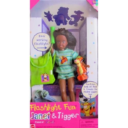バービーMattel Barbie Flashlight Fun Janet & Tigger Doll AA, Friend of Stacie Doll (1997)