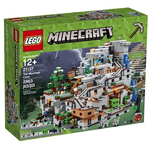 6174386 LEGO Minecraft The Mountain Cave 21137 Building Kit (2863 Piece)