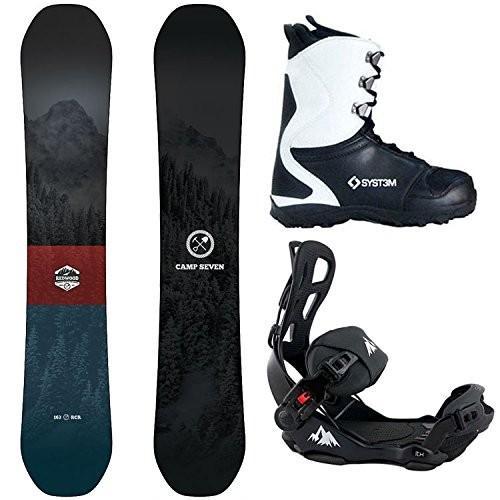 無料発送 Boot Size 12 Camp Seven Package Redwood Snowboard 158 cm Wide-System LTX Binding Large-System APX Boot 12, 南信堂 59172ead
