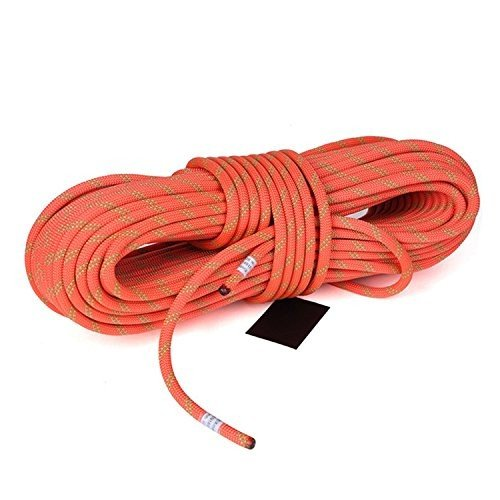 MaxS Climbing Auxiliary Rope Static Rope Safety Rescue Rope Diameter 10mm,(Orange Length:10Meter)