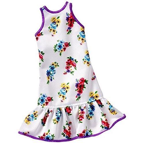DXB02 Barbie Fashions 白い Floral Dress