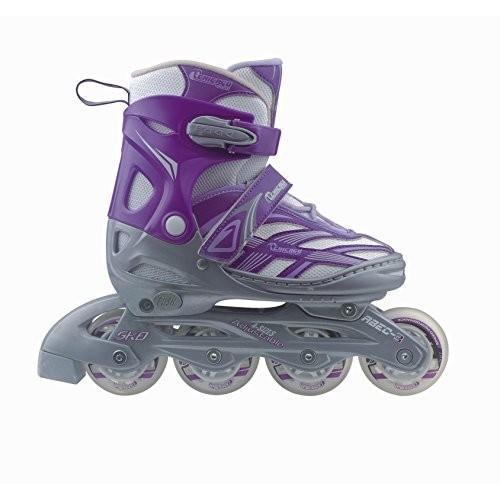 CRSMA8G-LG Size Youth Large (5-8) Chicago Blazer Junior Girls Adjustable Inline Skates - Purple - Sizes 5-8