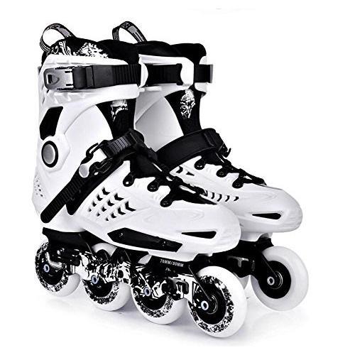 44 TX Inline Skates for Men Unisex Racing PP Material White-Black, 44