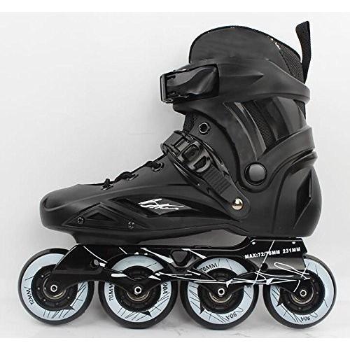 42 TX Inline Skates for Men Unisex Racing PP Material 90A High Elasticity Wheels Black, 42